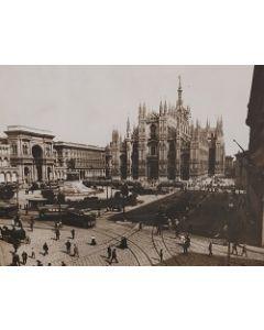 Milano Duomo, stampa su legno, 30x39,5 cm