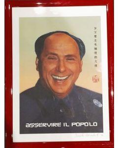 Daniele Miradoli, Berlusconi, stampa, 34x46,5 cm (con cornice)