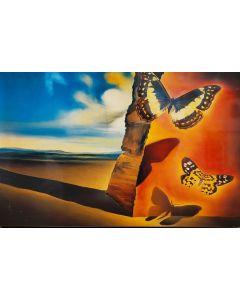 Salvador Dalì, Paesaggio con farfalle, stampa su tavola, 33,5x51,5 cm