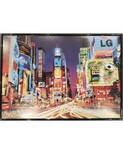 Times Square, stampa incorniciata, 36x51 cm