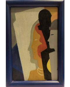 Anonimo, Ombre, olio su tavola, 26,5x18 cm (con cornice)