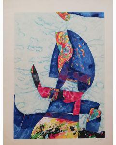 Gianni Dova, Nido sulle rocce, serigrafia, 62x84,5 cm