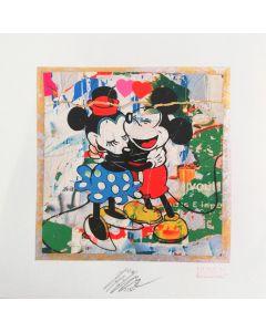Giuliano Grittini, Topolino e Minnie,  grafica Cracker Art (retouchè), 45x45 cm