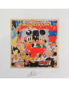 Giuliano Grittini, Topolino, grafica Cracker Art (retouchè), 45x45 cm
