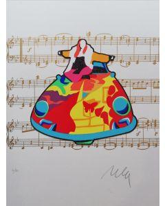 Marco Lodola, Janis Joplin, serigrafia e collage, 29,5x40 cm