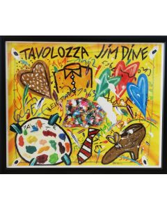 Bruno Donzelli, Tavolozza Jim Dine, tecnica mista su tela, 40x50 cm, 1997