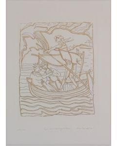 Remo Brindisi, Quel ramo del lago di Como, acquaforte, 50x35cm