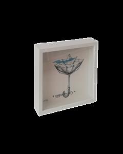 Loris Dogana, Opportunity, grafica in vitro, 27x27x6 cm (con cornice)