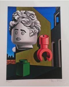 Stefano Bolcato, The song of love – Giorgio De Chirico, grafica fine art, 30x37 cm