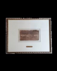 Giovanni Fattori, Angolo dell'orto, acquaforte, 10x17 cm (33x39 cm con cornice)