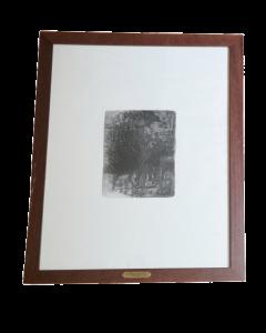 Giovanni Fattori, Cavalleggeri in marcia, acquaforte, 20x15 cm (57,5x44,5 cm con cornice)