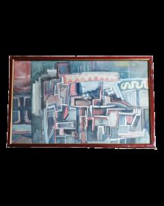 Anonimo, Urbano astratto, acquerello, 33x48 cm