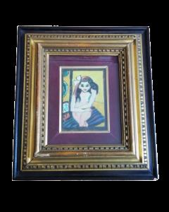 Anonimo, Bambina, olio su tavola, 41,5x35 cm