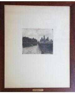 Giovanni Fattori, Viale delle cascine, acquaforte, 55x40 cm (con cornice)