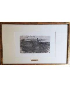 Giovanni Fattori, Senza titolo, acquaforte, 17x24 cm (42,5x56,5 cm con cornice)