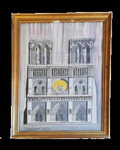 Gerolamo Induno, Notre Dame, olio su carta, 65x43 cm, 1853