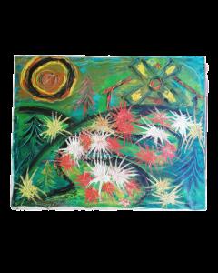Anonimo, Astratto, acrilico su tela, 40x50 cm, 1972
