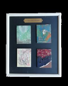 John King, Astratto otto, acrilico su cartone telato, 31x27 cm