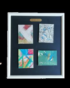 John King, Astratto nove, acrilico su cartone telato, 31x27 cm