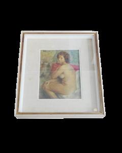 Cesare Peruzzi, Nudo, olio su tavola, 37,5x30 cm