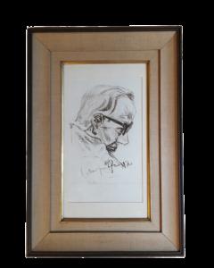Anonimo, Ritratto, carboncino su carta, 70x48 cm