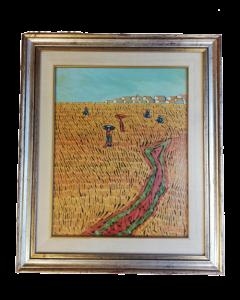 Pasquale, Campo di grano, olio su tavola, 70x60 cm