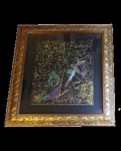Anonimo, Astratto, acrilico su tela, 94x84,5 cm