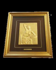 Gregorio Sciltian, Nudo di donna, bassorilievo, 22x28 cm (53,5x56 cm con cornice)