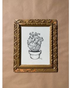 Loris Dogana, Heartus, inchiostro su carta, 26x32 cm