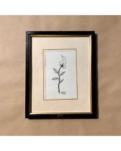 Loris Dogana, Fleur de vie, inchiostro su carta, 20x25 cm