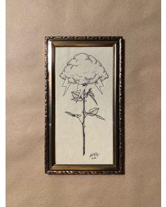 Loris Dogana, Fleur de nuages, inchiostro su carta, 14x24 cm