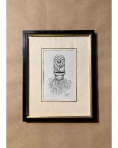 Loris Dogana, Fleur de quarantaine, inchiostro su carta, 20x25 cm