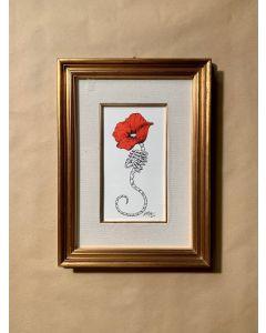 Loris Dogana, Unespected, inchiostro su carta, 31x42 cm