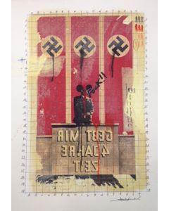 Enrico Pambianchi, Untitled, disegno e collage su carta, 36x50 cm, 2016