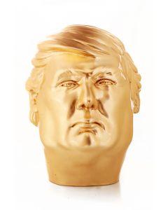 Paolo Lucchetta, Donny Gold, scultura in legno massiccio di faggio ricoperto da foglie d'oro, 26x28x35 cm