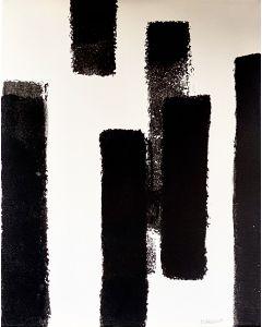 Marco Gabriele, Inverno, tecnica mista su tela, 40x50 cm, 2019