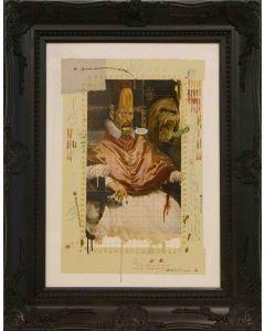 Enrico Pambianchi, Colpevolenzo X II°, tecnica mista su tavola, 50x70 cm