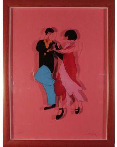 Marco Lodola, Tango, litografia su plexiglass, 66x50 cm con cornice, 62x46 cm senza cornice
