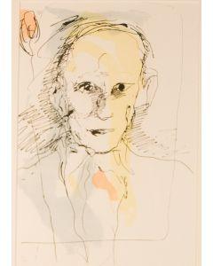 Ernesto Treccani, Omaggio a Picasso, litografia, 50x35 cm