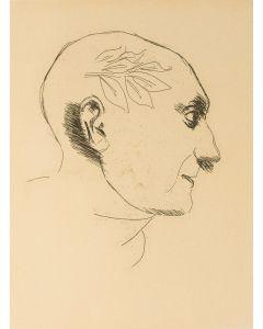 Ennio Morlotti, Omaggio a Picasso, litografia, 50x35 cm
