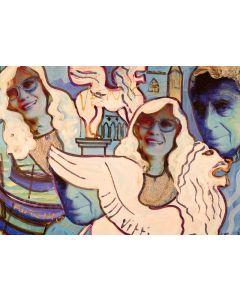 Carlo Massimo Franchi, Venice, tecnica mista su plexiglass opalino, 35,5x52x13 cm