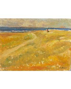 Daniela Penco, Mare del Nord, olio su cartone telato, 15x20 cm