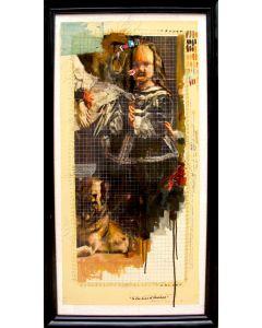 Enrico Pambianchi, In the mind of Velasquez, tecnica mista su tavola, 60x118,5 cm, 2015