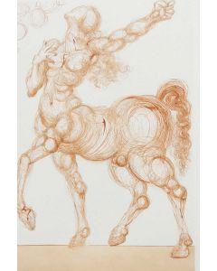 Salvador Dalì, Centauro, tratto da La Divina Commedia, Xilografia, 33x26,2 cm, 1964