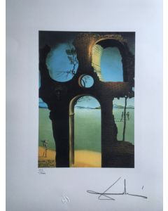 Salvador Dalì, Invisible face, litografia, 50x65 cm, 1988
