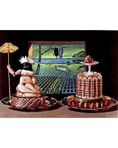 Salvador Dalì, Je mange Gala, litografia, 75x55 cm tratta da Les Diners de Gala, 1971