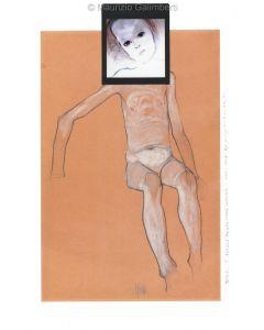 Maurizio Galimberti, Jesus...? Schiele ready made, originale unico, 27x37 cm