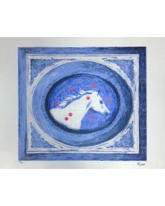 """Kicco, serigrafia su PVC neutro, 90x70 cm, tratta da Cartella """"Ama la natura"""""""