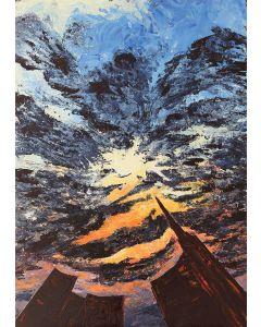 Pier Luca Bencini, L'ora che volge al desio, acrilico su tavola, 100x70 cm