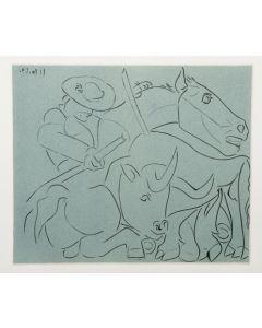 Pablo Picasso, La Pique cassée, Linoleografia, 27x32,5 cm
